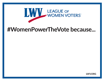 Women Power the Vote Sign Small