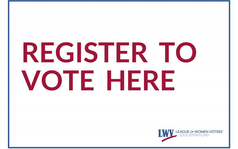 Register to Vote Sign