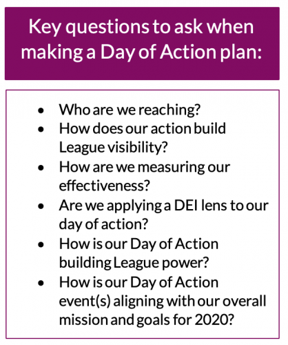Day of Action planning questions
