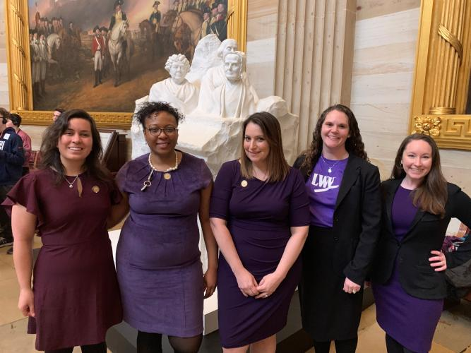 LWVUS Staff in the U.S. Capitol for the historic H.R. 1 vote