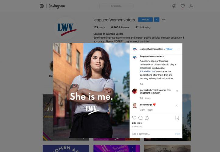 She Is Me Instagram Post Mockup