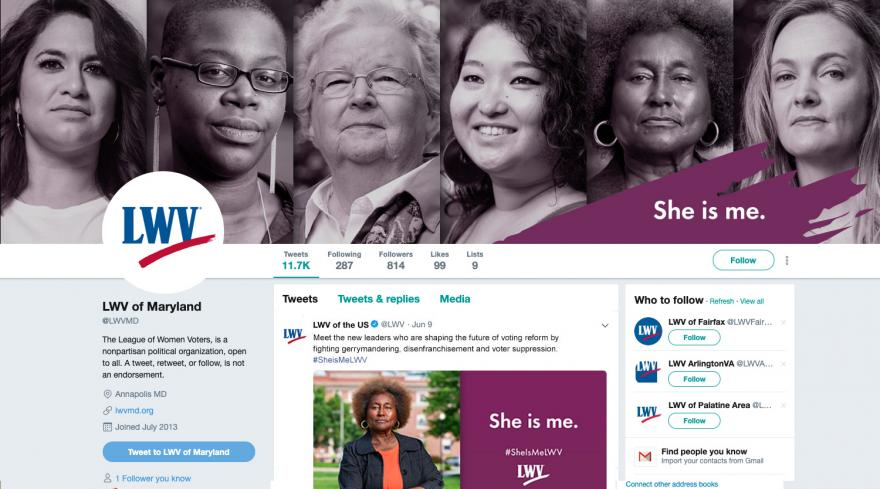 She Is Me Twitter Cover Photo Mockup
