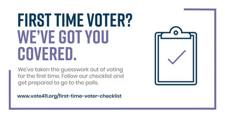 First Time Voter Checklist VOTE411