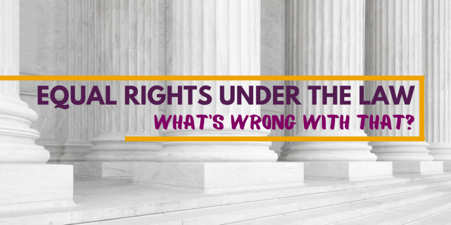 Equal Rights Under the Law: What's Wrong with That?